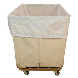 HG Maybeck Hamper Basket Liner, 200 Denier Nylon, 8 Bushel, White