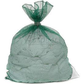 Mesh Bag W/ Dual Grip Rubber Closure, Green, 18x24, Medium Weight - Pkg Qty 12