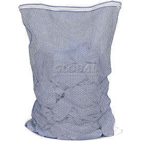 Mesh Bag W/ Nylon Zipper Closure, Blue, 18x30, Medium Weight - Pkg Qty 12