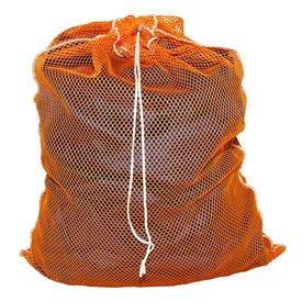 Mesh Bag W/ Drawstring Closure, Orange, 30x40, Medium Weight - Pkg Qty 12