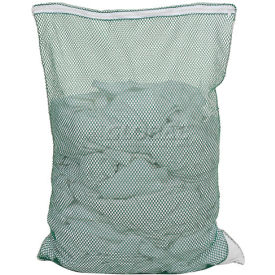 Mesh Bag W/ Nylon Zipper Closure, Green, 30x40, Medium Weight - Pkg Qty 12