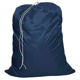 "18"" Drawcord Laundry Bag, Nylon, Blue, Straight Bottom - Pkg Qty 12"