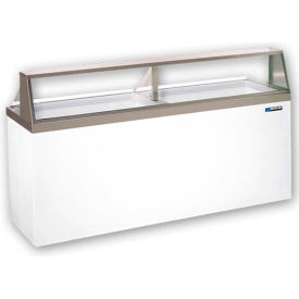 Master-Bilt® DD-88CG-Ice Cream Dip/Display Merch, Curved Glass, 16-can cap, White, 22.5 Cu Ft