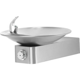 Haws® Barrier-Free SS Push Button Drinking Fountain with Sculpted Bowl