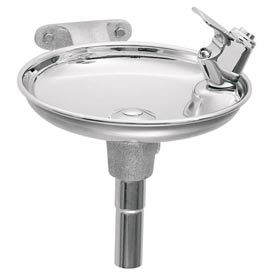 Haws Wall Mounted Drinking Fountain,Round, Stainless Steel Bowl
