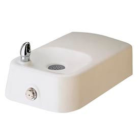Haws Barrier-Free Wall Mounted White Enameled-Iron Drinking Fountain