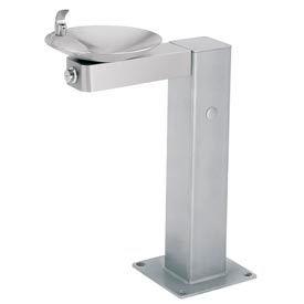 Haws Barrier-Free Pedestal Outdoor Drinking Fountain w/SS Bowl & Steel Pedestal