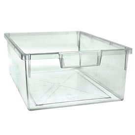 Clear Storage Double Tray for Mobile Work Center