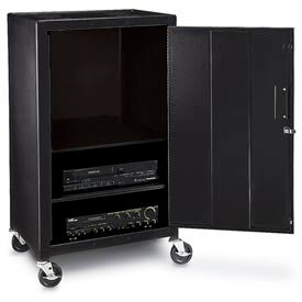 Mobile Metal Cabinet Cart - 24x18x42