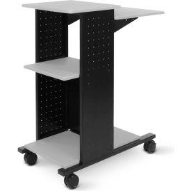 "Luxor Open Shelf Presentation Station, 18""W x 34-1/4""D x 40""H, Gray"