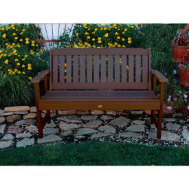 highwood® 4' Lehigh Outdoor Bench, Eco Friendly Synthetic Wood In Weathered Acorn