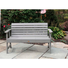 highwood® 5' Weatherly Outdoor Bench, Eco Friendly Synthetic Wood In Coastal Teak