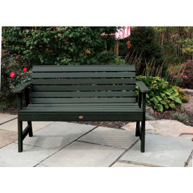 highwood® 5' Weatherly Outdoor Bench, Eco Friendly Synthetic Wood In Charleston Green