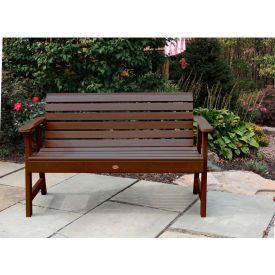 highwood® 4' Weatherly Outdoor Bench, Eco Friendly Synthetic Wood In Weathered Acorn