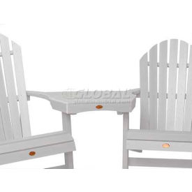 highwood® Adirondack Tete-A-Tete Connecting Table - White