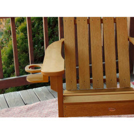 highwood® Adirondack Chair Screw On Cup Holder Attachment, Toffee