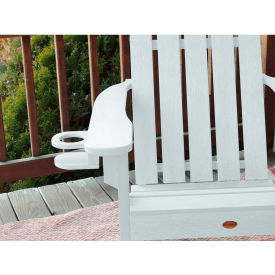 highwood® Adirondack Chair Screw On Cup Holder Attachment, White