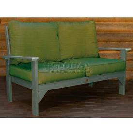 highwood® Pocono Deep Seating Patio Love Seat - Coastal Teak/Palm (Sold in Pk. Qty 3) - Pkg Qty 3