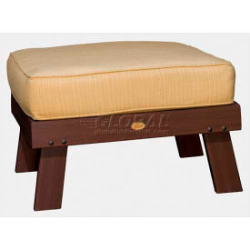 highwood® Pocono Deep Seating Patio Ottoman - Weathered Acorn/Bamboo (Sold in Pk. Qty 2) - Pkg Qty 2