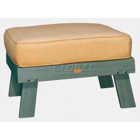 highwood® Pocono Deep Seating Patio Ottoman - Coastal Teak/Bamboo (Sold in Pk. Qty 2) - Pkg Qty 2