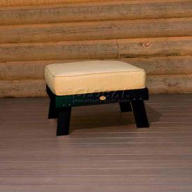 highwood® Pocono Deep Seating Patio Ottoman - Charleston Green/Bamboo (Sold in Pk. Qty 2) - Pkg Qty 2