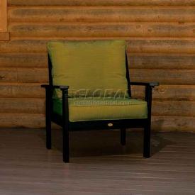 highwood® Pocono Deep Seating Patio Armchair - Charleston Green/Palm (Sold in Pk. Qty 2) - Pkg Qty 2