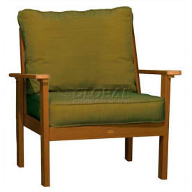 highwood® Pocono Deep Seating Patio Armchair - Toffee/Palm (Sold in Pk. Qty 2) - Pkg Qty 2