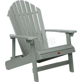highwood® Hamilton Folding Adirondack Chair, King Size - Coastal Teak