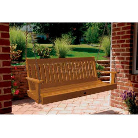 highwood® Lehigh 5' Wide Outdoor Porch Swing - Toffee
