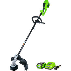 """GreenWorks® 21362 G-MAX 14"""" 40V Cordless DigiPro String Trimmer, W/ Li-Ion Battery & Charger"""