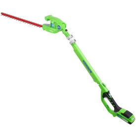 "GreenWorks™ 2200302 G-24 22"" Cordless Hedge Trimmer, 24V, 5/8"" Cut Capacity - Tool Only"