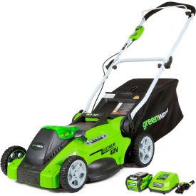 "GreenWorks™ 25322 G-MAX 16"" Cordless 40V Lawn Mower Kit, W/ 4Ah Li-Ion Battery & Charger"