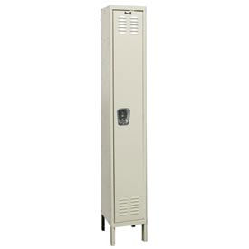 Hallowell U1228-1G-PT Knock-Down Corrosion Resistant Locker Single Tier 1 Wide 12x12x78 - Tan