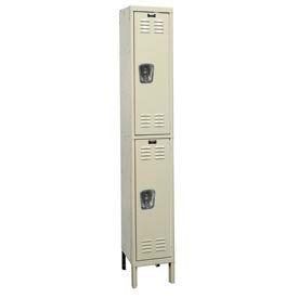 Hallowell U1228-2G-A-PT Assembled Corrosion Resistant Locker Double Tier 1 Wide - 12x12x39