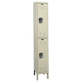 Hallowell U1258-2G-A-PT Assembled Corrosion Resistant Locker Double Tier 1 Wide - 12x15x39