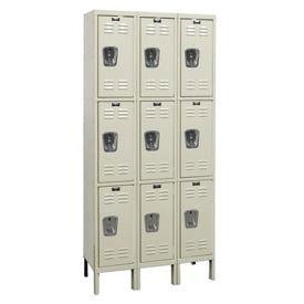 Hallowell U3228-3G-PT Knock-Down Corrosion Resistant Locker Triple Tier 3 Wide - 12x12x26