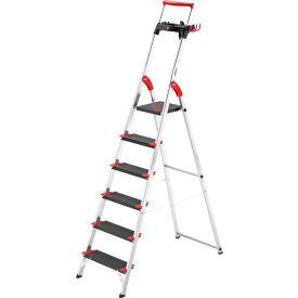Hailo Championsline 6 Step Aluminum Safety Ladder - 8010-627