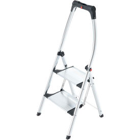 Hailo LivingStep Comfort Plus 2 Step Aluminum  Folding Step Ladder - 4302-301