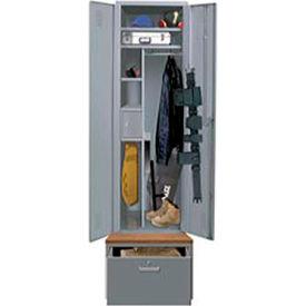 Hallowell HERL442-1SL-B-G Emergency Response All-Welded TaskForce XP Equipment Locker w/ Drawer Base