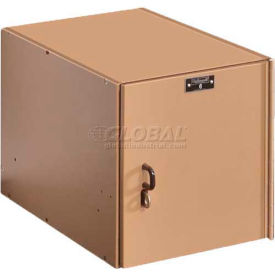 "Hallowell AquaMax Plastic Locker, Space Cube, 12""W x 18""D x 12""H, Taupe Body & Doors"