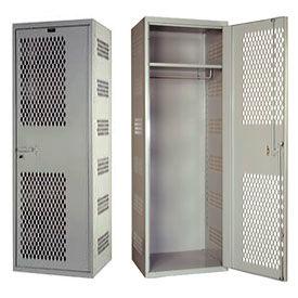Hallowell HTA422-1AS-PL SecurityMax High Security Ventilated Welded Locker - 24x22x72