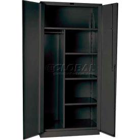 Hallowell HW4CC6478-4CL 14 Gauge Extra Heavy-Duty Classic DuraTough Combination Cabinet, 36x24x78