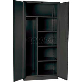 Hallowell HWG4CC6478-4CL 14 Gauge Extra Heavy-Duty Galvanite DuraTough Combination Cabinet, 36x24x78