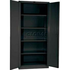 Hallowell HWG4SC0478-4CL 14 Gauge Extra Heavy-Duty Galvanite DuraTough Storage Cabinet, 60x24x78