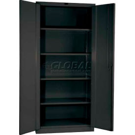 Hallowell HWG4SC6478-4CL 14 Gauge Extra Heavy-Duty Galvanite DuraTough Storage Cabinet, 36x24x78