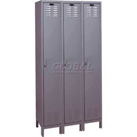 "Hallowell ValueMaxLocker, 36""x15""x78"", Gray, Single Tier, 3 Wide, Assembled"