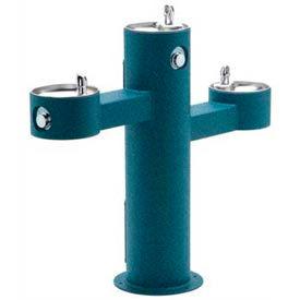 Halsey Taylor Endura II Triple-Bowl, Pedestal, Outdoor Drinking Fountain, 4430