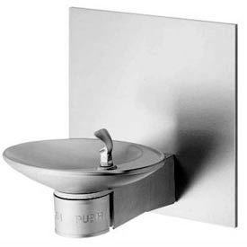 Halsey Taylor Barrier-Free Fountain w/ Back Panel, OVL-II EBP (AG)