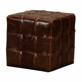 Sterling Industries, 133-004, Leather Ottoman by