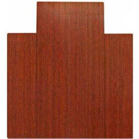 "Anji Mountain,AMB24006W,44"" x 52"" 4"" Wide Slat Dark Cherry Bamboo Roll,Up Chair Mat"
